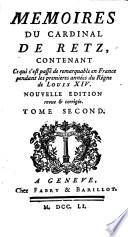 Memoires du cardinal de Retz