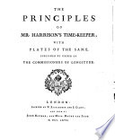 Principes de la montre de Mr  Harrison