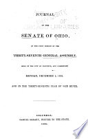Journal of the Senate of the State of Ohio