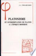 illustration Platonisme et interprétation de Platon à l'époque moderne