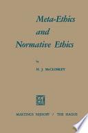 Meta Ethics and Normative Ethics