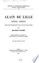 Alain de Lille: textes inédits