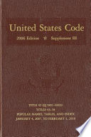 United States Code, 2006, Supplement 3