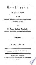 Predigten im Jahr     bey dem Churf  rstl  S  chsischen Evangelischen Hofgottesdienste zu Dresden gehalten