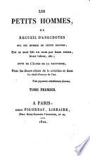 Petits hommes, Les; ou, Recueil d'anecdotes sur les hommes de petite stature ...
