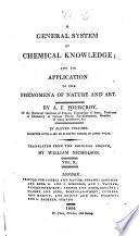 A General System of Chemical Knowledge