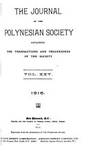 Journal of the Polynesian Society