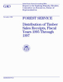 download ebook forest service distribution of timber sales receipts, fiscal years 1995 through 1997 : report to the ranking minority member, committee on resources, house of representatives pdf epub