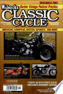 WALNECK S CLASSIC CYCLE TRADER  NOVEMBER 2007