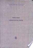 KIENAST:ALTASSYRISCHE TEXTE UAVA 1