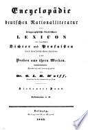 Encyclopädie der deutschen national-literatur