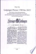 Leipziger Presse 1789 bis 1815