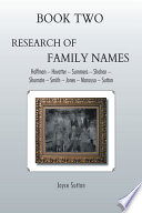 Book Two Research of Family Names