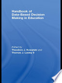 Handbook Of Data Based Decision Making In Education
