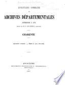 Inventaire - sommaire des archives départementales antérieures à 1790
