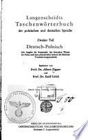 Langenscheidts taschenw  rterbuch der polnischen und deutschen sprache  Deutsch polnisch