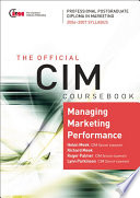CIM Coursebook 06 07 Managing Marketing Performance