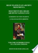 Volume introduttivo Seconda Edizione RNAM (Regii Neapolitani Archivi Monumenta)