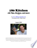 180 Kitchen 180 Tips Recipes And More book