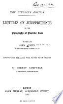 ... Lectures on Jurisprudence
