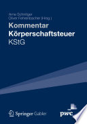 Kommentar Körperschaftsteuer KStG