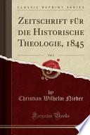 Zeitschrift F R Die Historische Theologie 1850 Classic Reprint