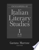 Encyclopedia of Italian Literary Studies: A-J