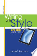 Writing with Style  APA Style Made Easy