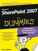 Microsoft SharePoint 2007 f  r Dummies