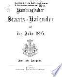 Hamburgischer staats-kalender ...