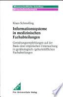 Informationssysteme in medizinischen Fachabteilungen