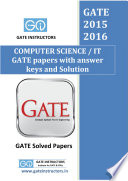 Previous GATE paper with answer keys and solutions   Computer Science cs it