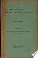 Publications of the Princeton Expedition to Abyssinia