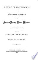 Annual Report of the American Railway Master Mechanics' Association