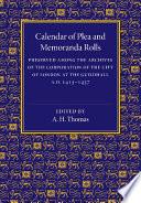 Calendar of Plea and Memoranda Rolls