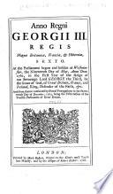Anno Regni Georgii III     Sexto