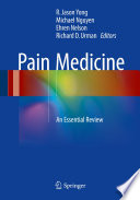 Pain Medicine : providers. it presents important clinical...