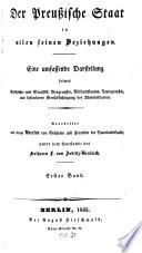 Der preußische Staat in allen seinen Beziehungen