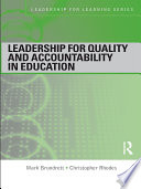 Leadership for Quality and Accountability in Education
