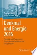 Denkmal und Energie 2016