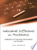 Individual Differences in Arithmetic