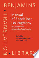 Manual of Specialised Lexicography