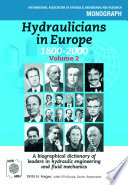 Hydraulicians in Europe 1800 2000