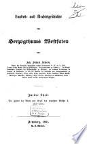 Landes- und Rechtsgeschichte des Herzogthums Westfalen