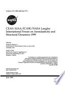 Ceas Aiaa Icase Nasa Langley International Forum On Aeroelasticity And Structural Dynamics 1999