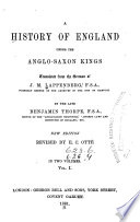 History of England Under the Anglo Saxon Kings