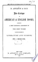 D  Appleton   Co s New Catalogue of American   English Books