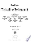 Berliner Tierarztliche Wochenschrift