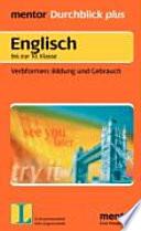 Englisch - Verbformen