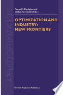 Optimization and Industry  New Frontiers